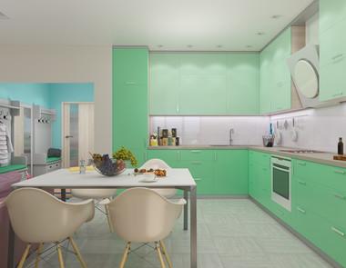 Kuchnia w kolorze mięty - jak wprowadzić ten kolor do wnętrza?