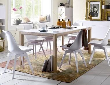 Designerskie białe krzesła - hit wnętrzarski!