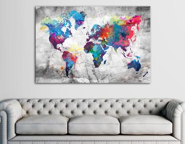 Mapy we wnętrzach -  inspirujące dekoracje