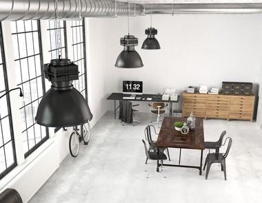 Lampy industrialne w mieszkaniu