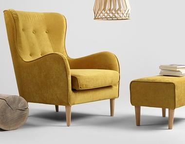 Żółty fotel jako atrakcyjny dodatek do Twojego wnętrza