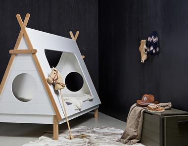 Łóżko w kształcie domku - raj dla dzieci