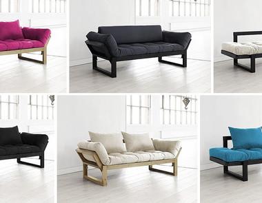 Sofa rozkładana z materacem futon