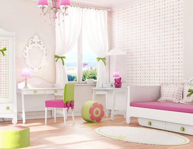 Różowy pokój dziecka