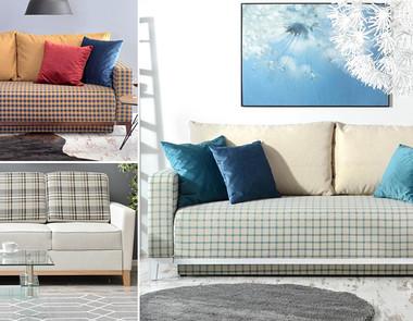 Fotel i sofa w kratę - stylowy zestaw wypoczynkowy