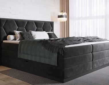 Ściana za łóżkiem — oryginalne wykończenie