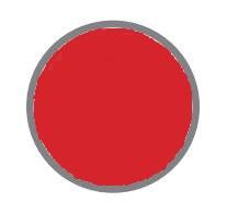 czerwony pastelowy