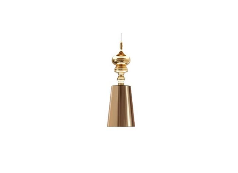 Lampa Queen złoty