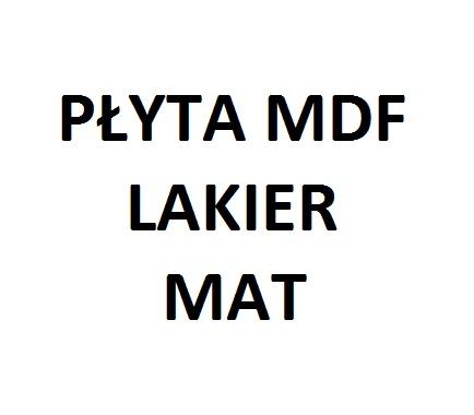 PŁYTA MDF LAKIER MAT
