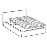 Rodzaje stelaży w łóżkach LeComfort - Podnoszony z dwóch stron