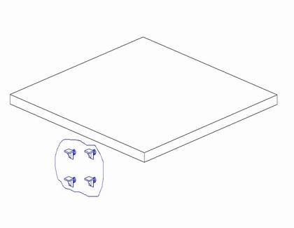 Półka do szafy 3-drzwiowej perła + wenge