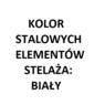 elementy stalowe kolor biały